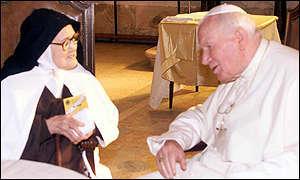Suor Lucia Do  Santos e Papa Giovanni Paolo II